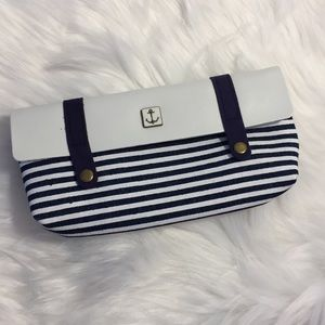Other - NEW Naval Stripe Nautical Pencil/Makeup Case